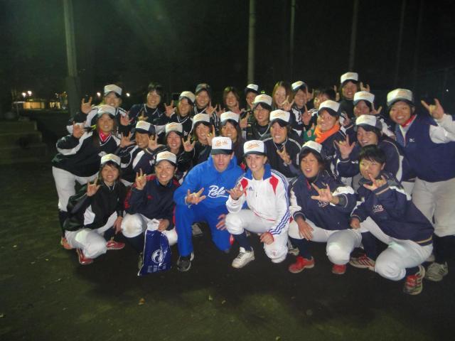 Mélissa et l'équipe féminine de Shobi Gakuen University